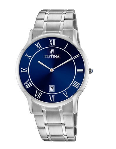 Festina Acero Classic Analogue Men's Wrist Watch - Stainless Steel