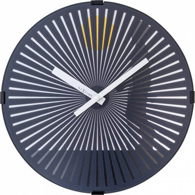 NeXtime 30cm Walking Man Motion Plastic Round Wall Clock - Black