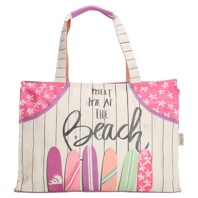 PE-Florence Meet Me at the Beach Ladies Shopper Bag - Pink