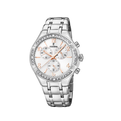 Festina Boyfriend Collection Analogue Ladies Wrist Watch - Silver F20392-1