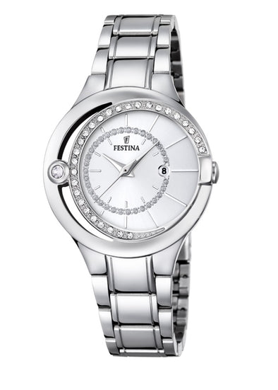 Festina Made Moiselle Analogue Ladies Wrist Watch - Silver F16947-1