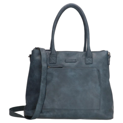 Enrico Benetti Valence Ladies PU Shopper Bag - Navy