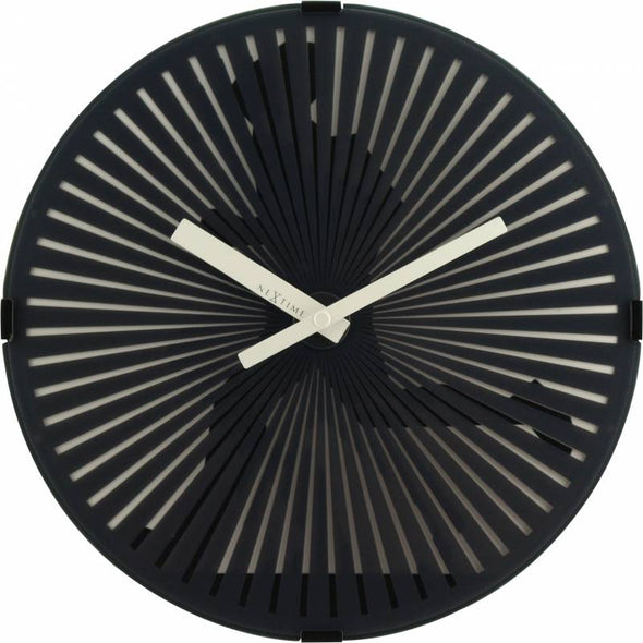 NeXtime 30cm Running Man Motion Plastic Round Wall Clock - Black