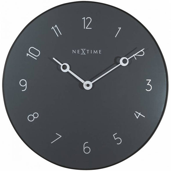 NeXtime 40cm Carousel Glass & Metal Round Wall Clock - Grey
