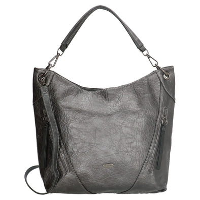 David Jones Paris Ladies Hobos/Shoulder Bag - Silver 3968