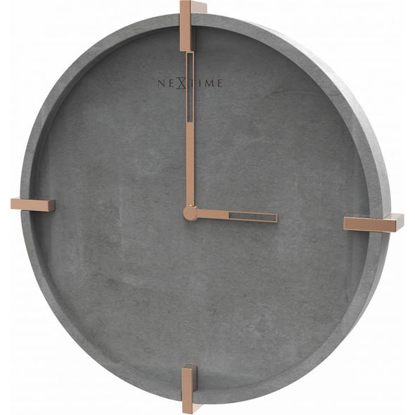 NeXtime 32cm Concrete Mohawk Wall Round Wall Clock - Grey