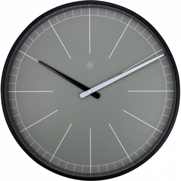 NeXtime 40cm Gray Plastic Round Wall Clock - Grey 7328GS