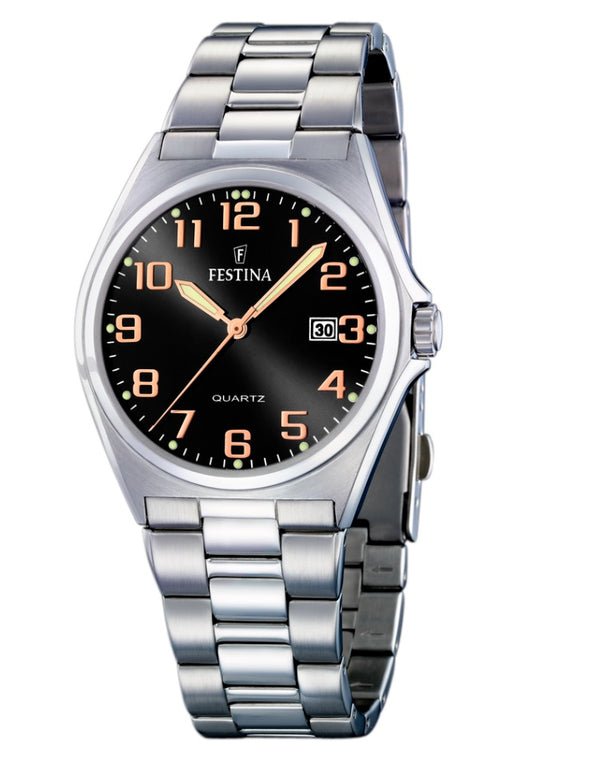 Festina Acero Classic Analogue Men's Wrist Watch - Stainless Steel F16374