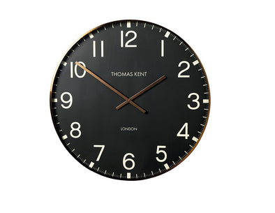 Thomas Kent 53cm Smith Arabic Round Analog Wall Clock - Black