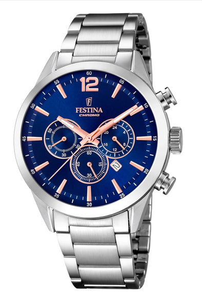 Festina Timeless Chronograph Analogue Men's Wrist Watch F20343/9