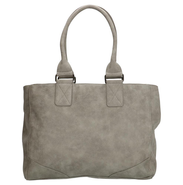 Beagles Alcublas Ladies PU Leather Shopper Bag - Light Grey