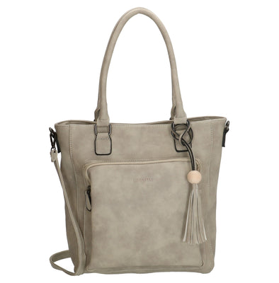 Charm London Covent Garden Ladies PU Shopper/Hand Bag - Grey 16778