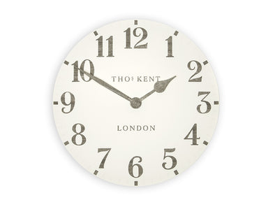 Thomas Kent 50cm Grand Arabic Windsor Round Wall Clock - White