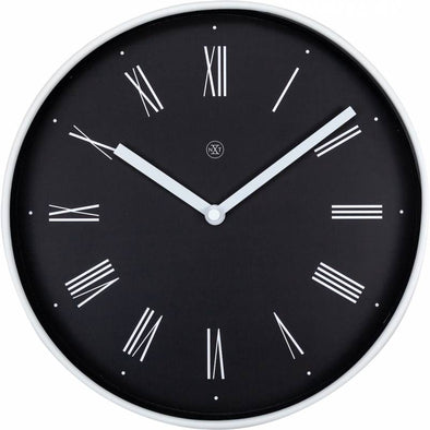 NeXtime 25cm Irving Plastic Round Wall Clock - Black