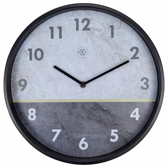 NeXtime 30cm Horizon Metal Round Wall Clock - Grey