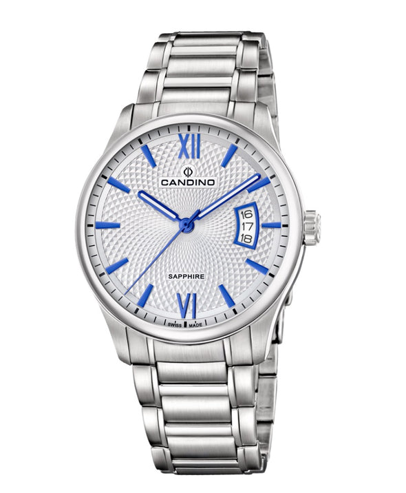 Candino Sapphire Swiss Made Mens Stainless Steel Watch - Timeless Gents
