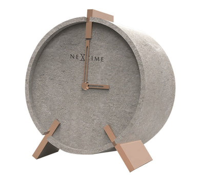 NeXtime 15cm Concrete Mohawk Table/Desk Clock - Grey