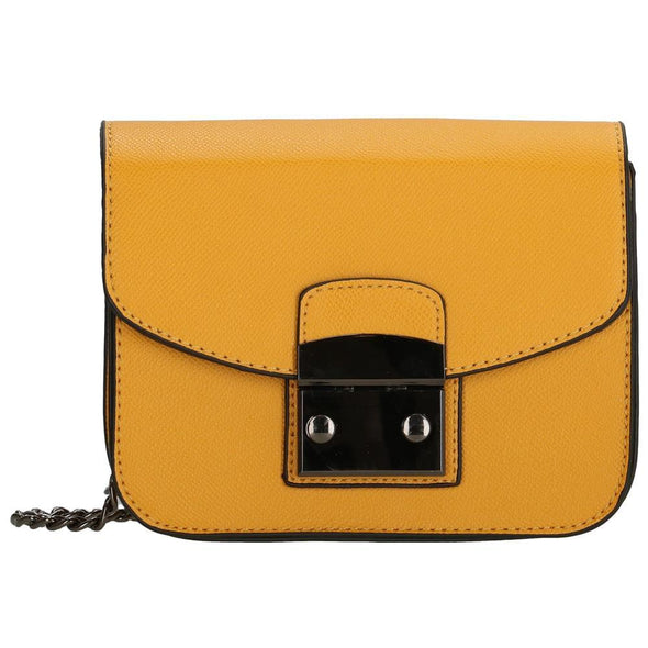 Charm London Canary Wharf Ladies PU Shoulder Bag - Gold