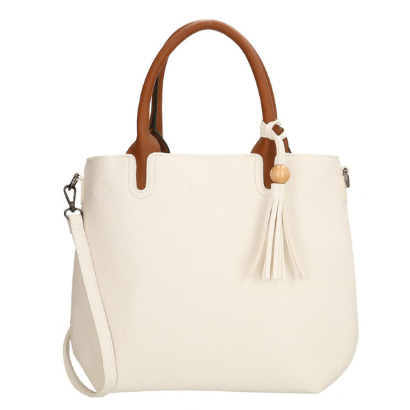 Charm London Covent Garden Ladies Shopper/Hand Bag -White 17382