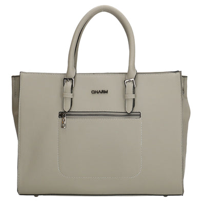 Charm London Birmingham Ladies Hand/Shopper Bag - Light Grey 17143