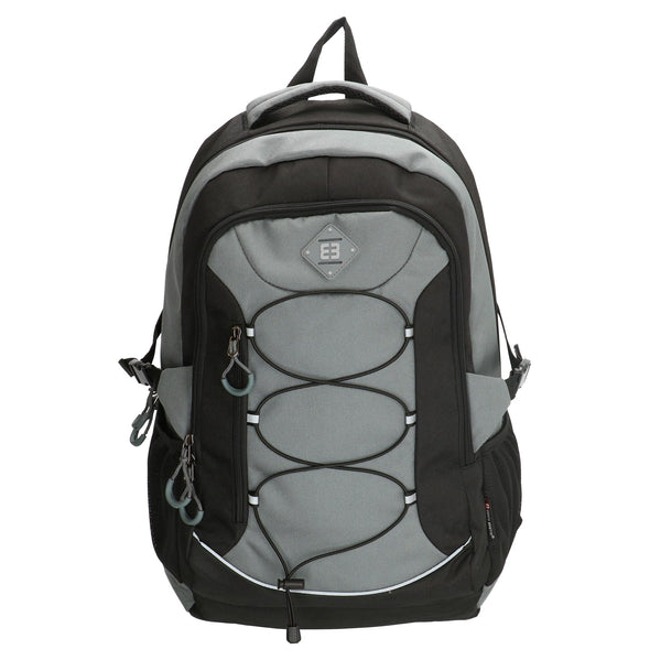 Enrico Benetti Barcelona Polyester 38 litres Backpack - Black & Grey