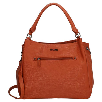 Charm London Kings Cross Ladies PU Shopper Bag - Apricot