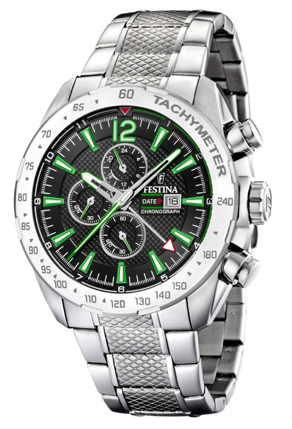 Festina Chrono Sport Analogue Men's Wrist Watch - Stainless Steel F20439/6