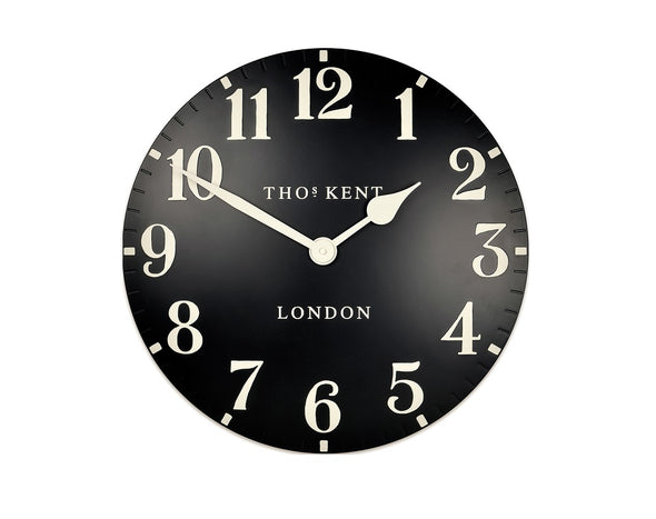 Thomas Kent 50cm Grand Arabic Windsor Round Wall Clock - Black