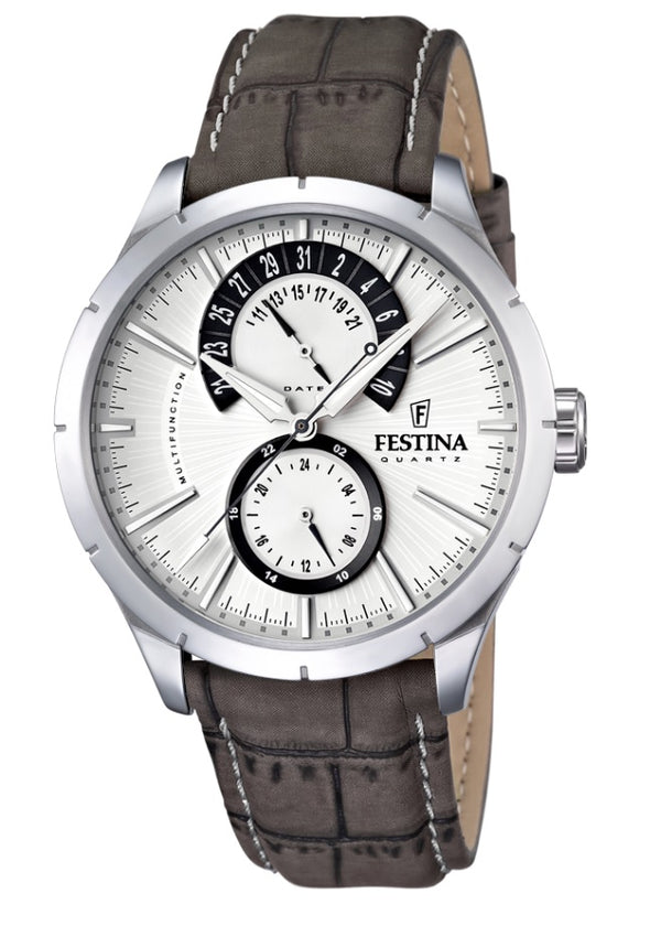 Festina Retro Classic Analogue Men's Wrist Watch with Leather Strap