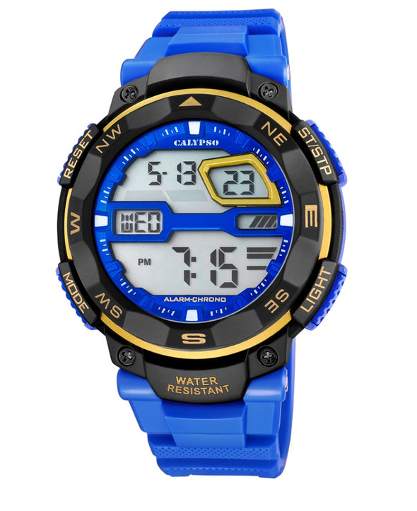 Calypso Digital Sports Mens Week Indicator Watch - Blue