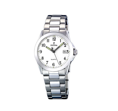 Festina Acero Classico Analogue Ladies Wrist Watch - Silver F16377-1