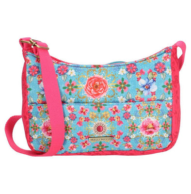 Melli Mello Lyan Ladies Shoulder Bag - Blue & Pink 17128