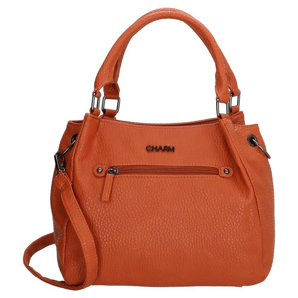 Charm London Kings Cross Ladies PU Shopper Bag - Apricot 17640