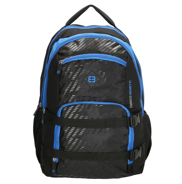 Enrico Benetti Natal Polyester 35 litres Backpack - Black & Blue