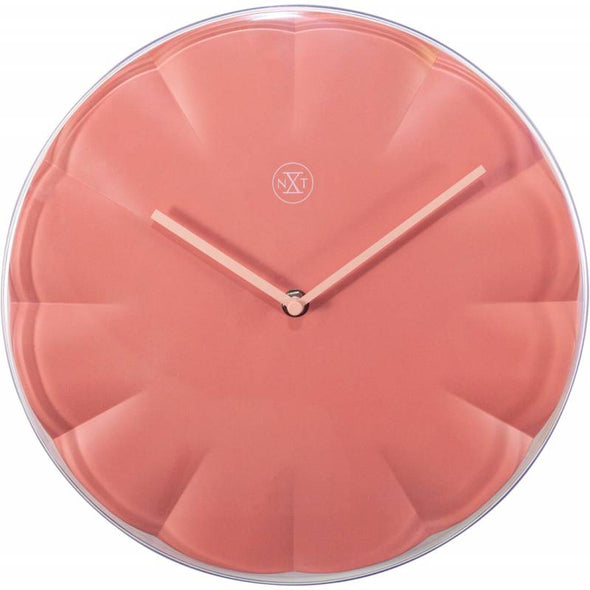 NeXtime 29cm Sweet Coral Plastic Round Wall Clock - Pink