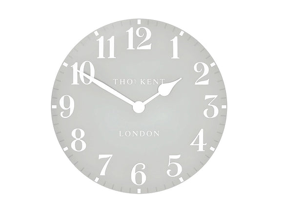 Thomas Kent 50cm Grand Arabic Windsor Round Wall Clock - Light Grey