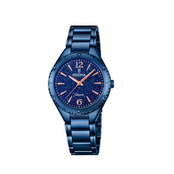 Festina Made Moiselle Analogue Ladies Wrist Watch - Blue F16923-4