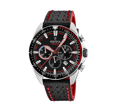 Festina The Originals Analogue Men's Wrist Watch - Black-Red F20377/6