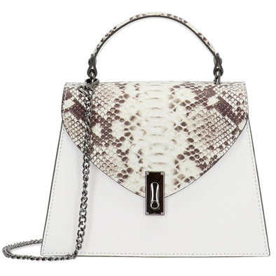 Charm London Elisa Leather Ladies Top Handle Hand Bag - White
