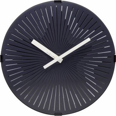 NeXtime 30cm Motion Star White Motion Plastic Round Wall Clock - Black