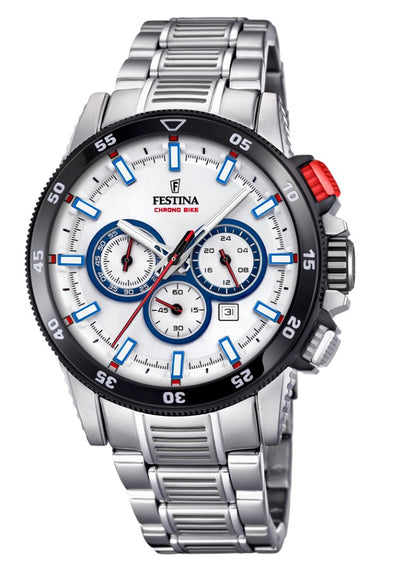 Festina Chrono Bike Analogue Men's Wrist Watch - White F20352/1