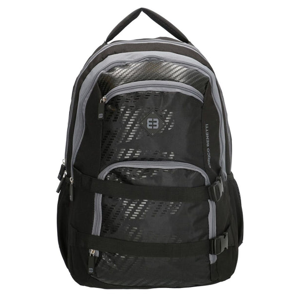 Enrico Benetti Natal Polyester 35 litres Backpack - Black & Grey