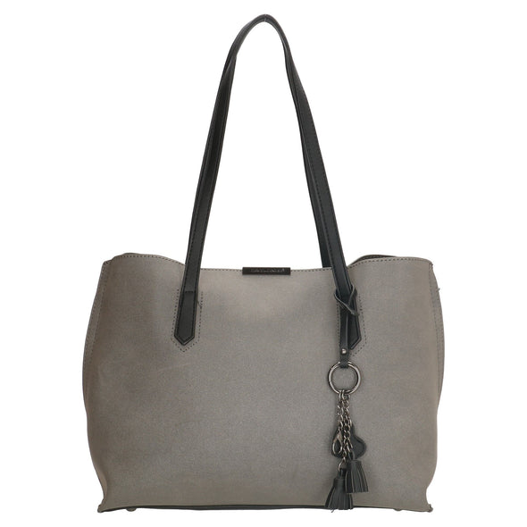 David Jones Paris Ladies Shopper/Tote Bag - Grey