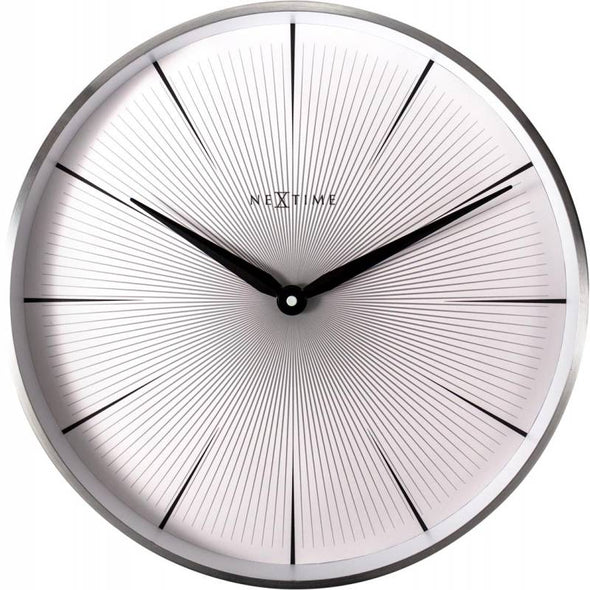 NeXtime 40cm 2 Seconds Metal Round Wall Clock - White