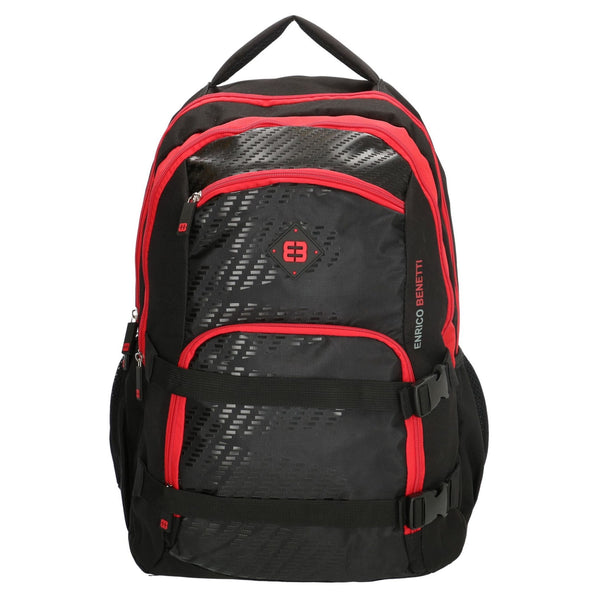 Enrico Benetti Natal Polyester 35 litres Backpack - Black & Red