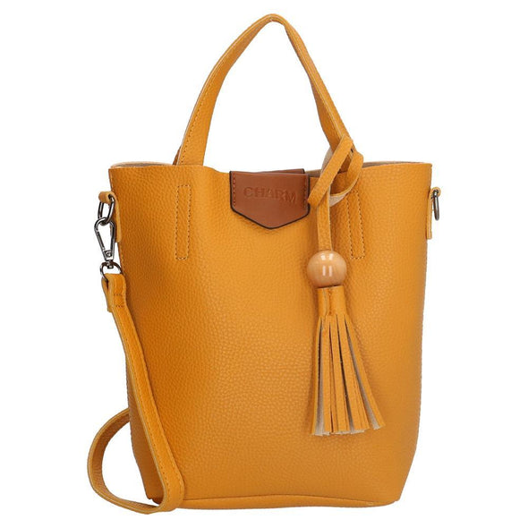 Charm London Covent Garden Ladies PU Hand Bag - Gold