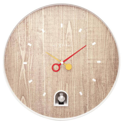 NeXtime 30cm Nightingale White ABS Round Wall Clock - White