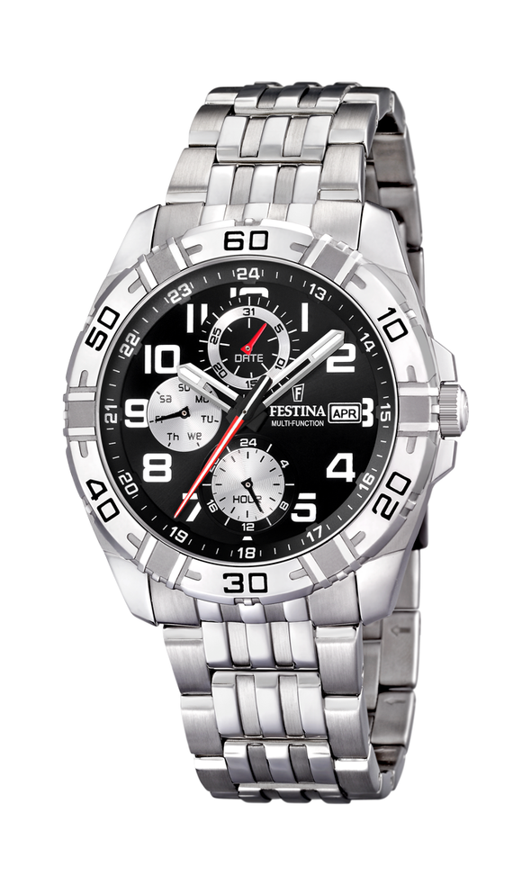 Festina Estuche Multi-function Analogue Men's Wrist Watch - Black F16494-2