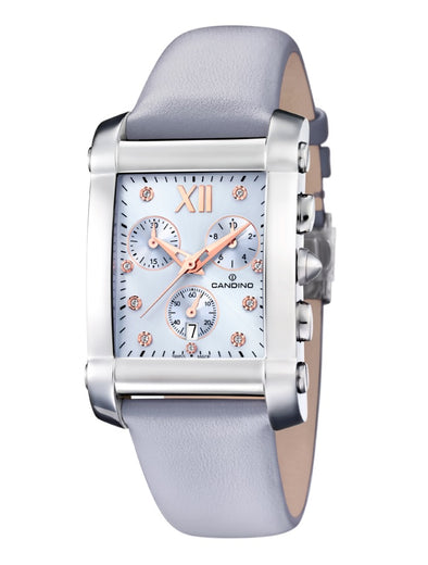 Candino Swiss Made Ladies Leather Watch - Lady Angular Collection