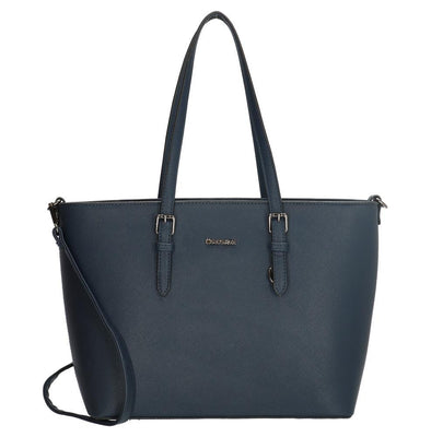 Charm London Birmingham Ladies PU Shopper Bag - Navy